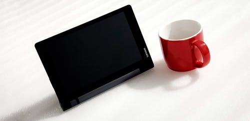 Free stock photo of cup, red, tablet, white