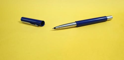 Free stock photo of pen, yellow