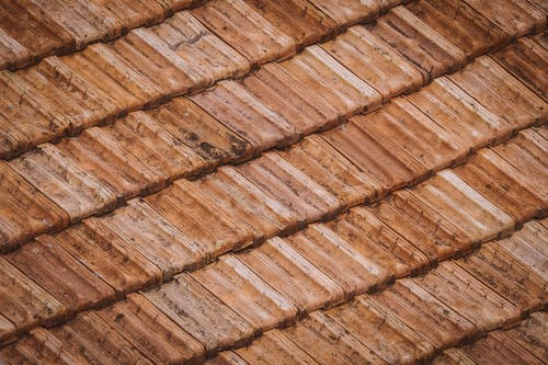 Brown and White Roof Tiles