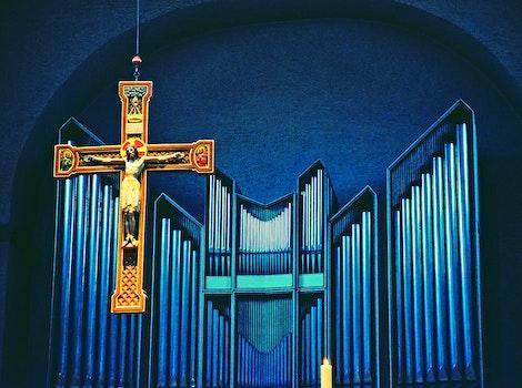 Free stock photo of cross, jesus, indoors, symbol