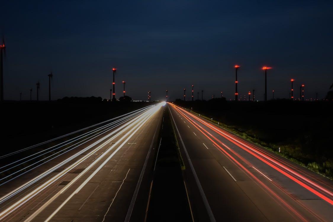 Foto profissional grátis de autobahn, céu noturno, deutschland