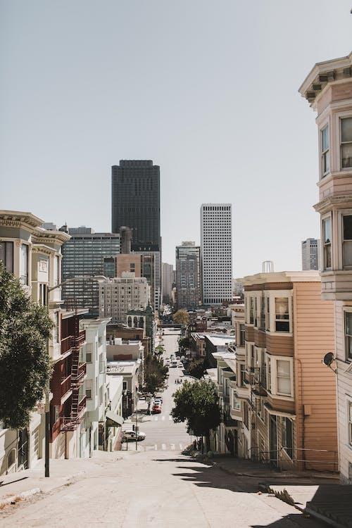 Gratis stockfoto met amerika, architectuur, autorijden, bedrijf