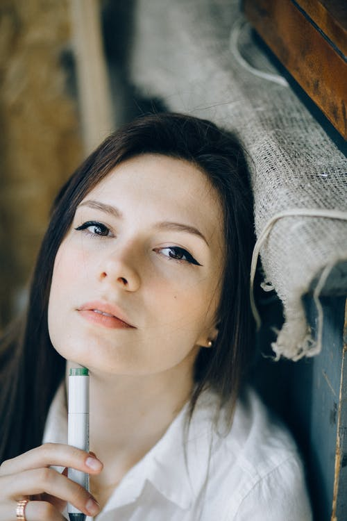 Photo of Woman Looking Pensive