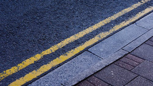Free stock photo of double yellow, line, pavement, road marking