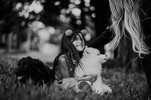 Foto d'estoc gratuïta de amistat, amor, animal, bebè
