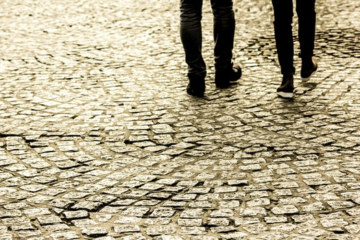 Free stock photo of people, walking, dirty, pattern