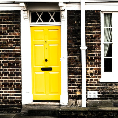 Free stock photo of brick, contrast, door, england