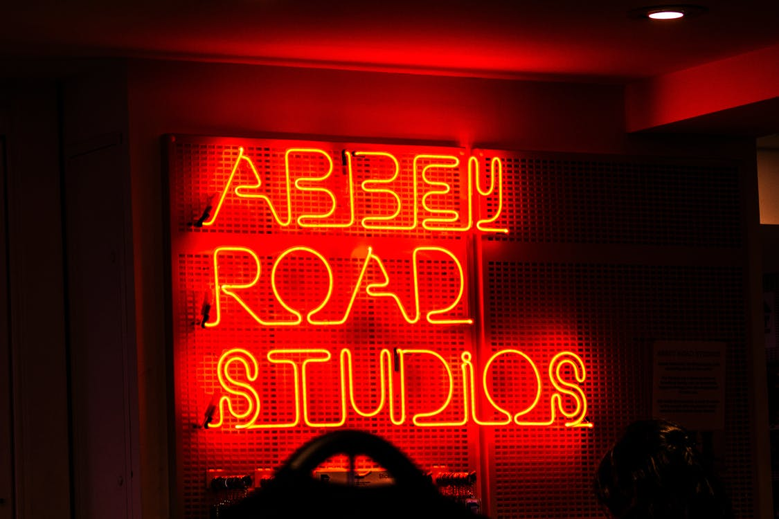 Lighted Abbey Road Studios Neon Light Signage