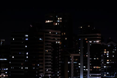 Free stock photo of apartment building, city, city lights, night