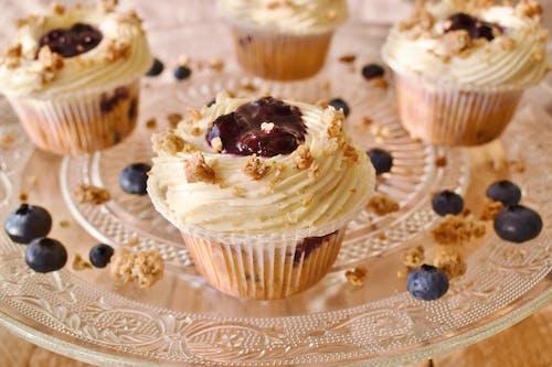 Ingyenes stockfotó Áfonya, áfonyás muffin, élelmiszer témában