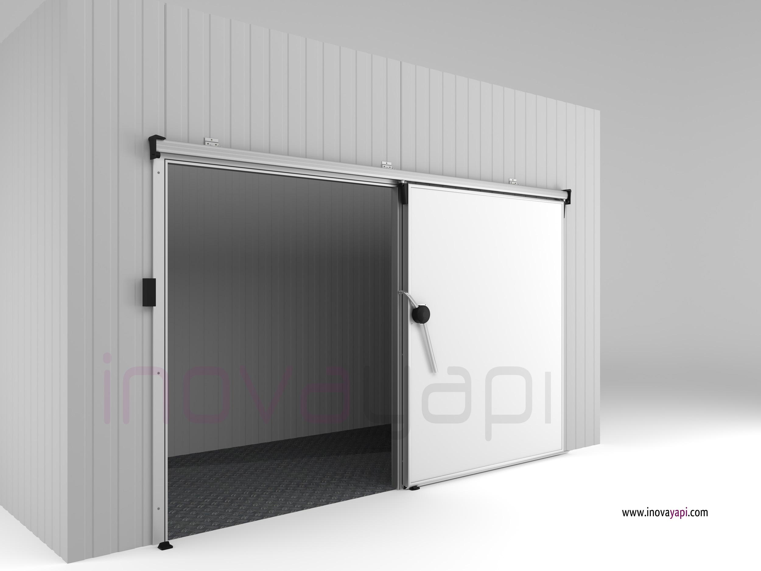 Free stock photo of cold room sliding door