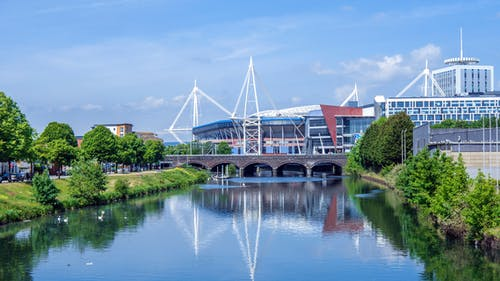 Free stock photo of bridge, cardiff, cityscape, river