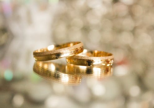 Free stock photos of wedding rings pexels free stock photo of blur rings reflections shining junglespirit Images