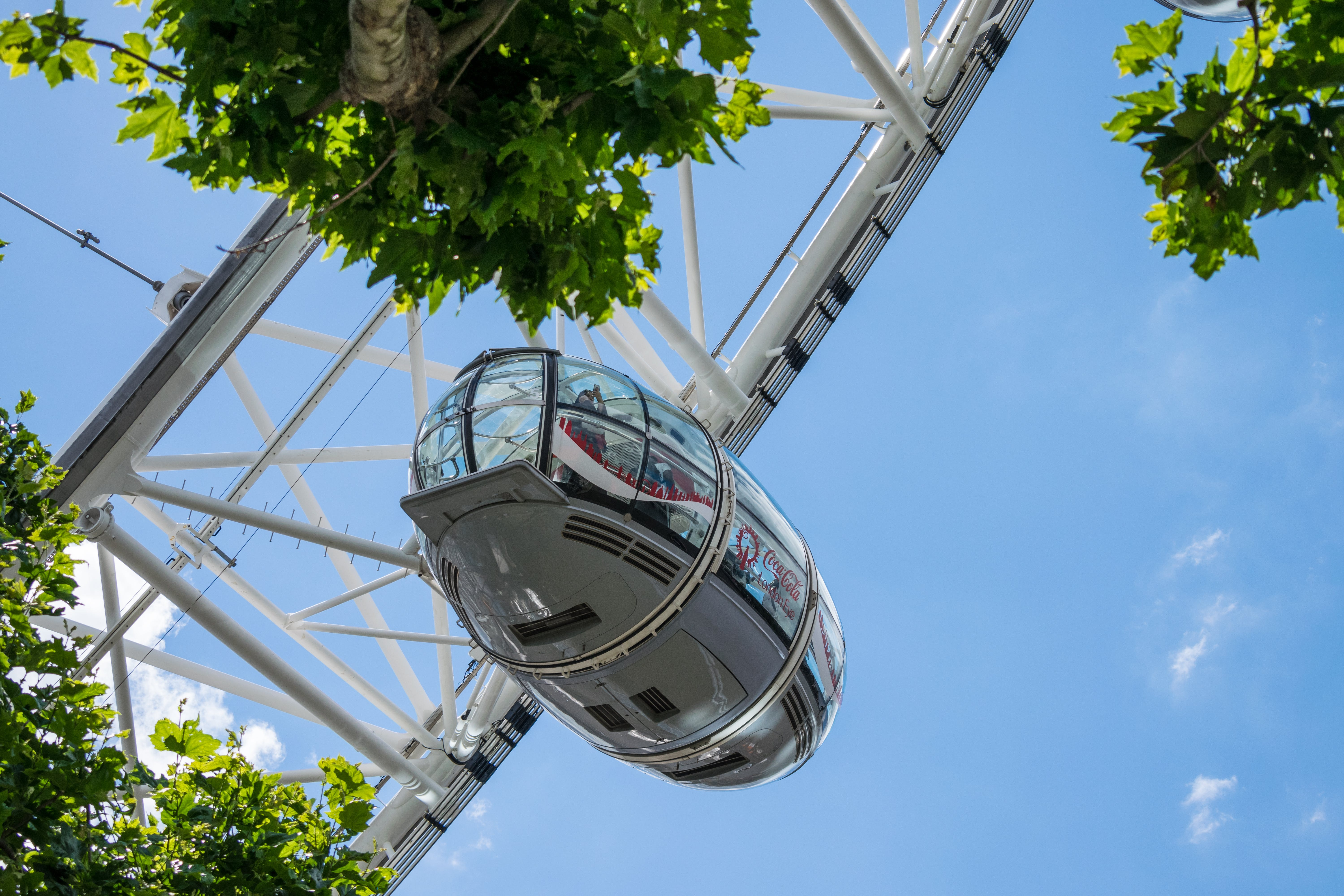 Low-angle Photography of White Cable Car