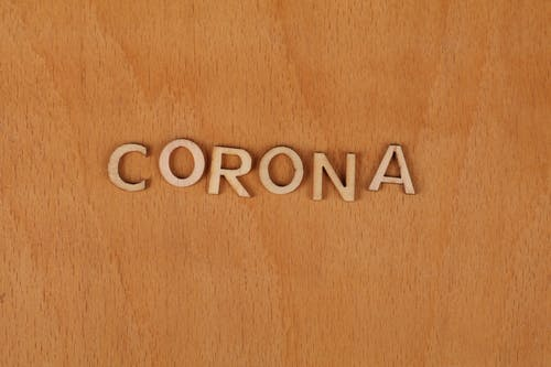 Free stock photo of corona, wooden background, wooden letters