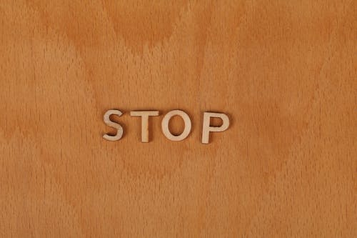 Free stock photo of stop, wooden background