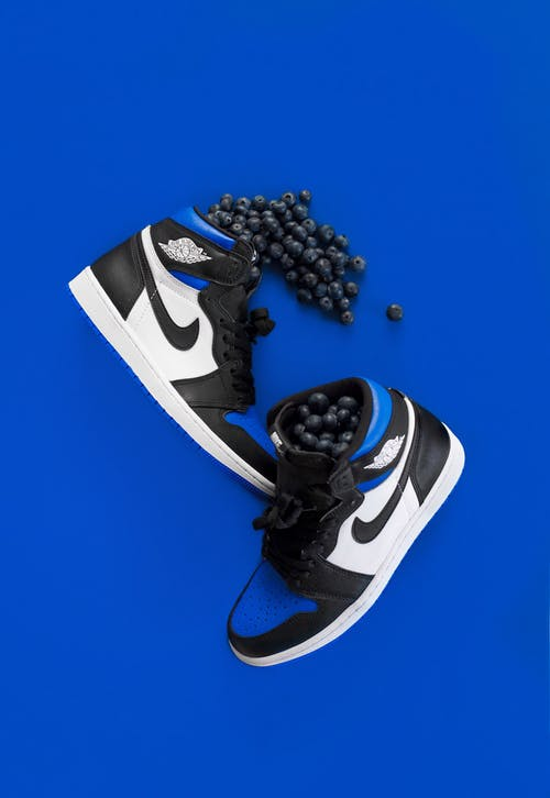Black and White Nike Air Jordan 1 Shoes