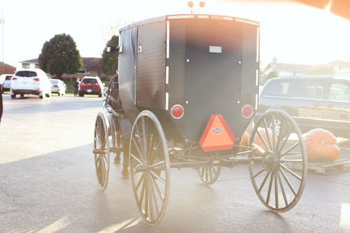 Black and Gray Carriage
