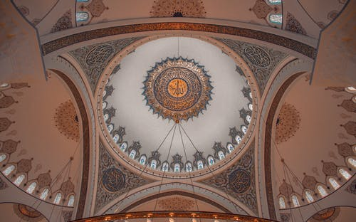 Ornamental ceiling of old mosque