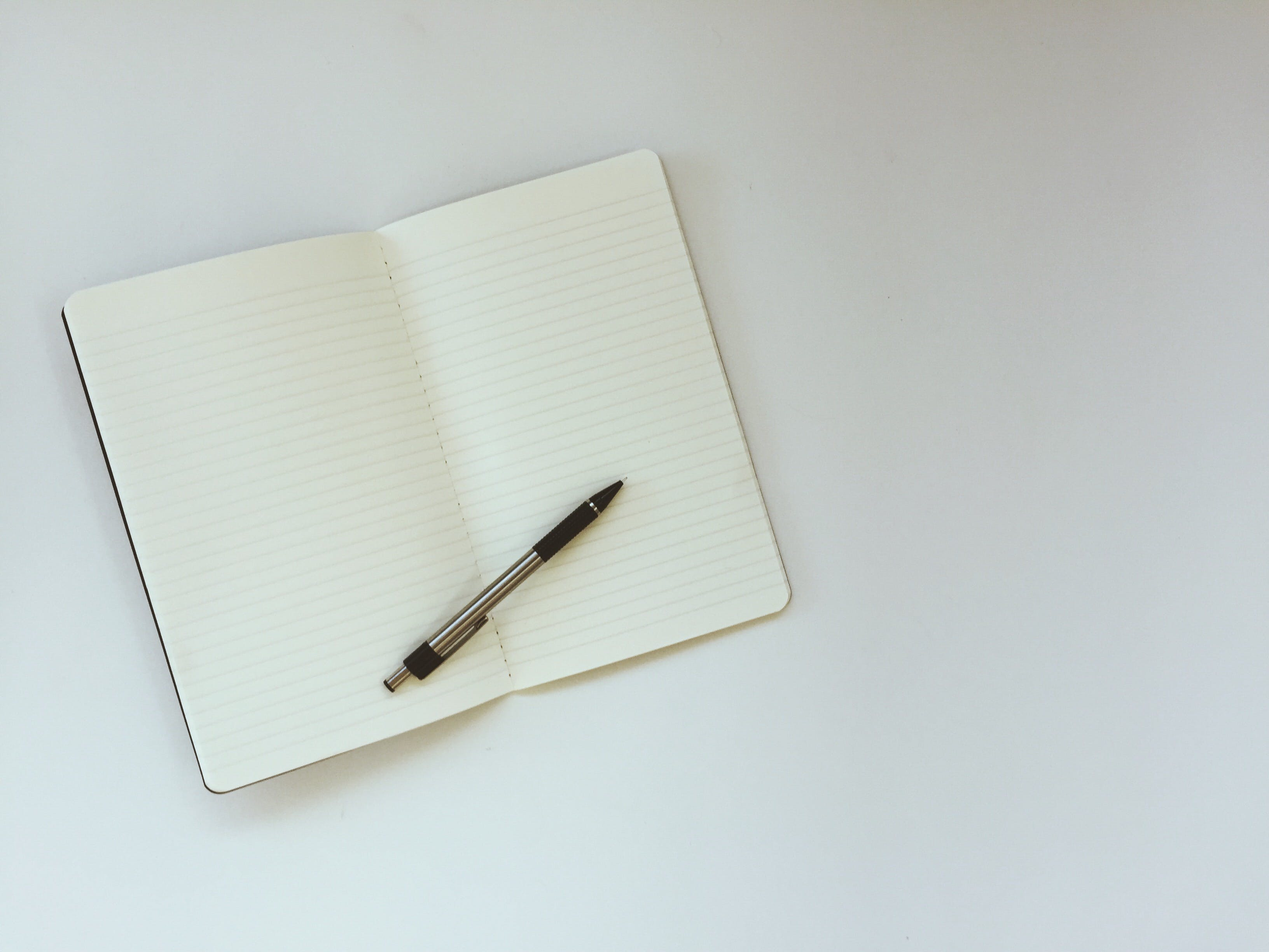 Free stock photo of blank, blank notebook, blank page, flat lay