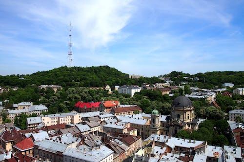 Photos gratuites de ciel bleu, horizon, lviv, ukraine