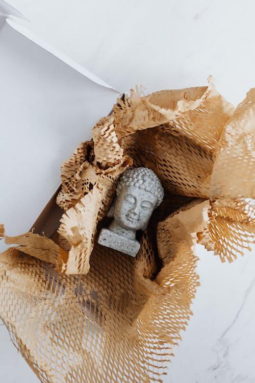 Granite Buddha statue in carton package