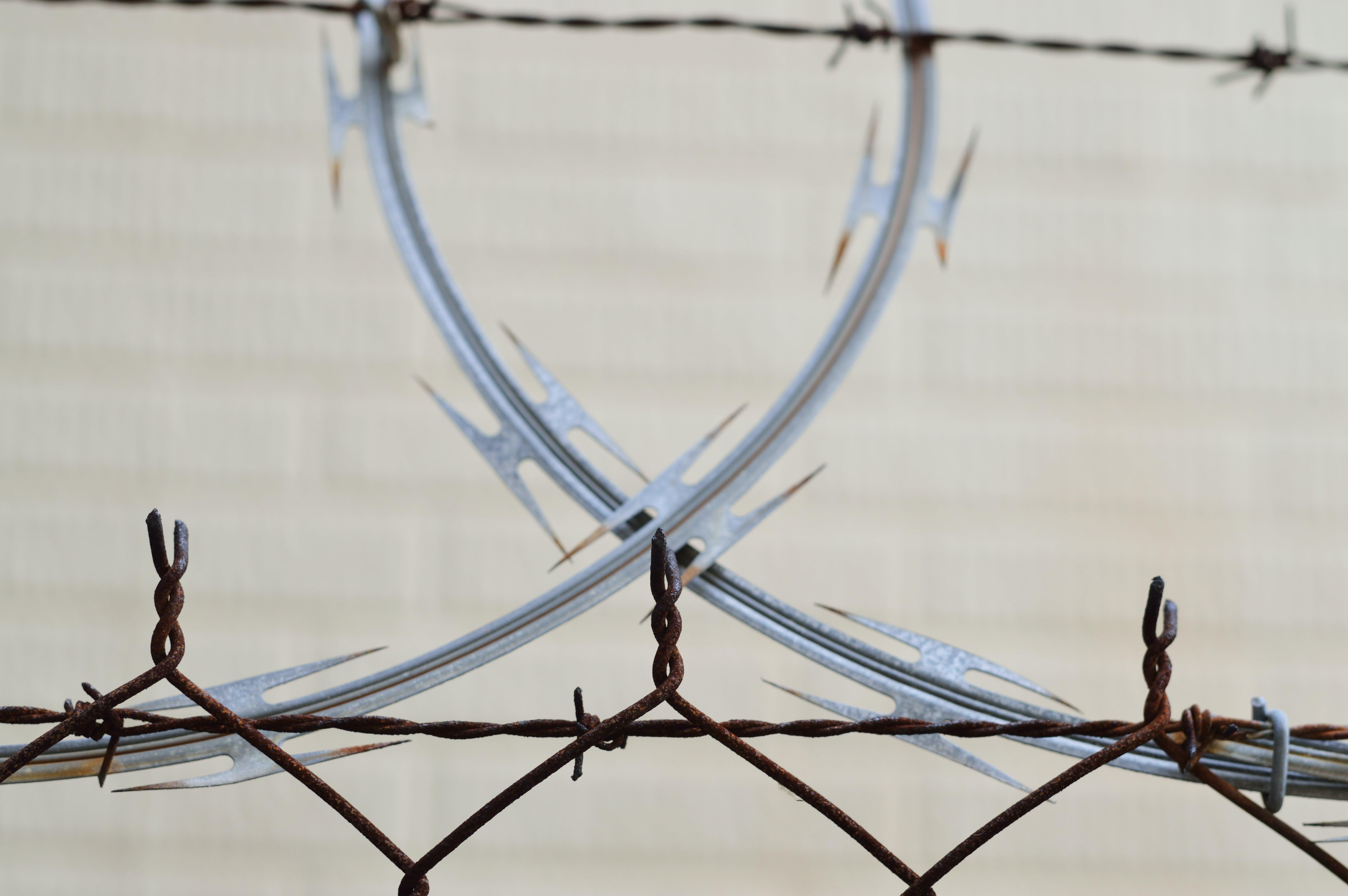barbed wire, barrier, blur