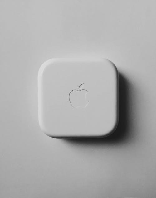 White Apple Logo on White Surface