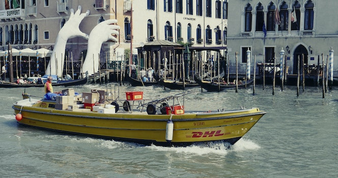 Free stock photo of boat, delivery, canale grande, courier