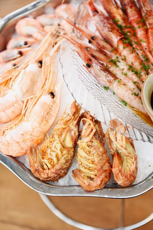 Close-Up Photo of Mouth-Watering Cooked Prawns