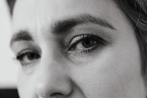 Close-Up Photo of Woman's Face