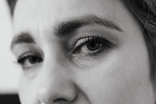 Immagine gratuita di alla ricerca, bianco e nero, ciglia, faccia