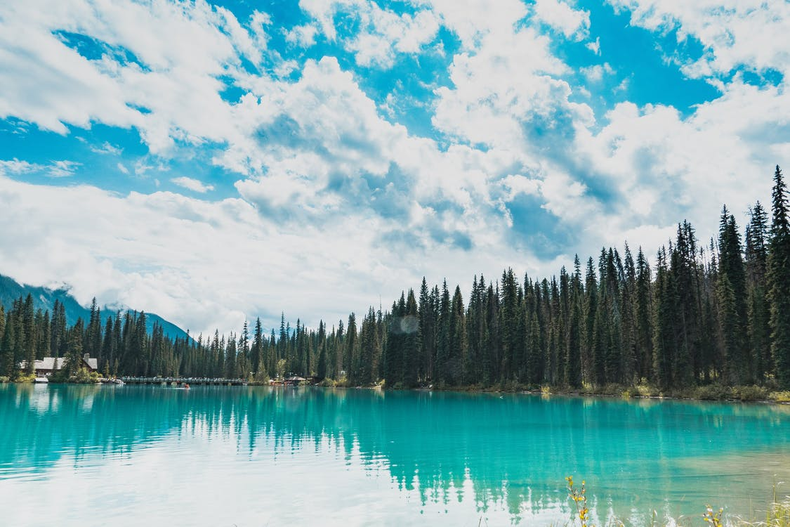 Photo of Lake Under White Clouds