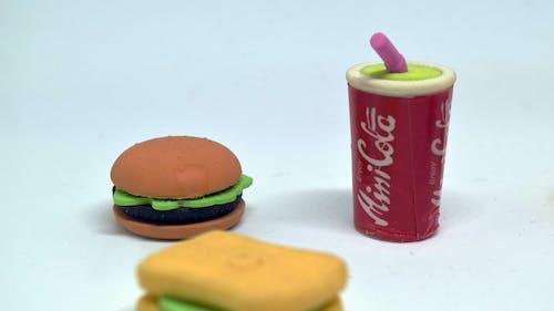 Immagine gratuita di affamato, cibo, coca cola, hamburger