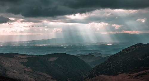 Amazing view of mountain range