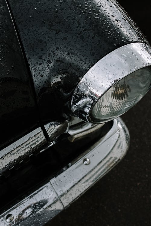 Photo of Vintage Car With Raindrops
