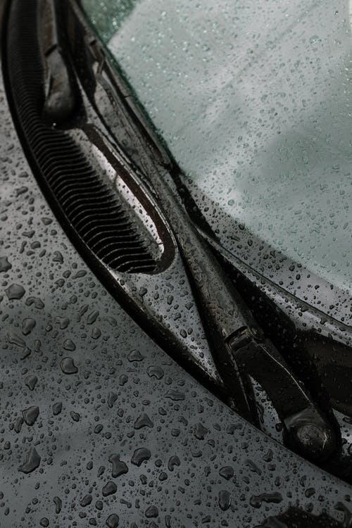 Photo of Car Wipers With Water Drops