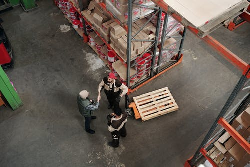 Men Working in a Warehouse