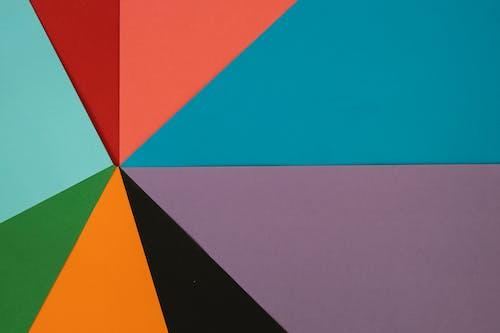 Бесплатное стоковое фото с абстрактный, апельсин, бумага, геометрический