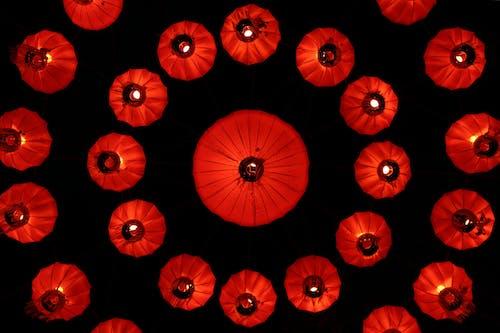 Бесплатное стоковое фото с абстрактный, бесшовный, бумажные фонарики
