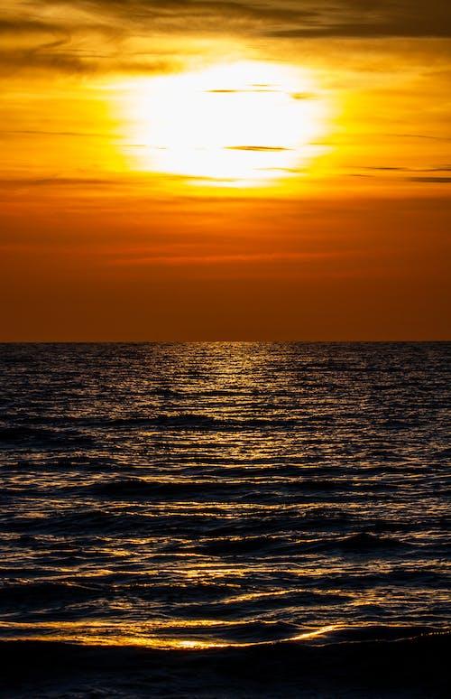 Free stock photo of meer, Sonne, sonnenuntergang, sunset