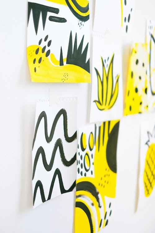 White Black and Yellow Happy Birthday Sticker