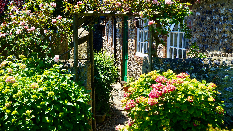 Garden Near Stone House