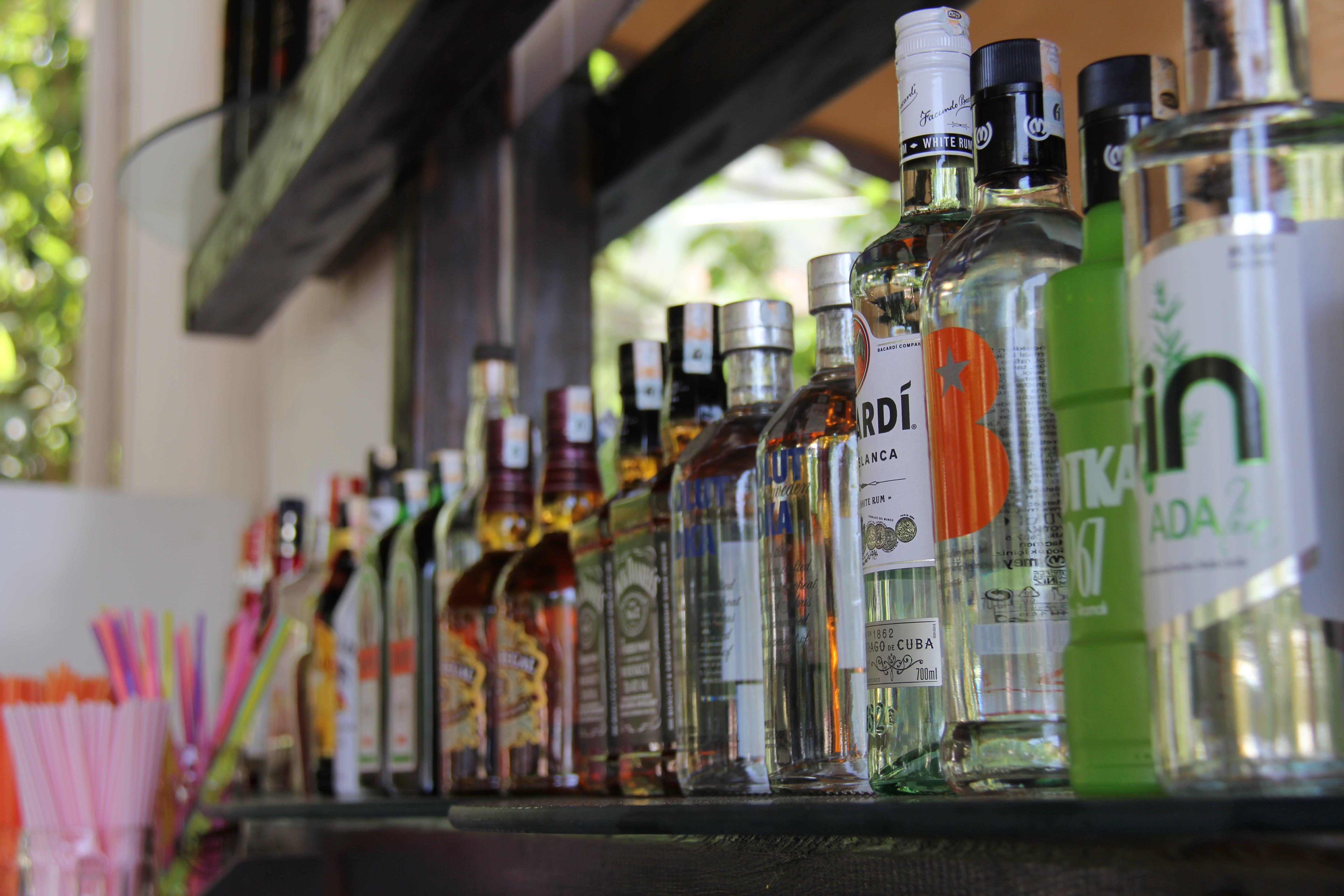 Free stock photo of alcohol, alcohol bottles, bacardi, bar