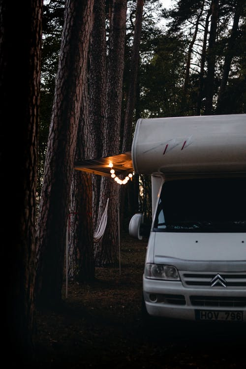 Campervan in a Forest