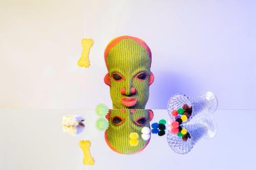 Free stock photo of face, fun, mirror, simple