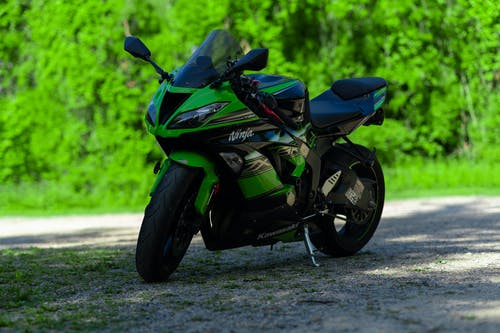 Free stock photo of bike, green, motor cycle, ninja
