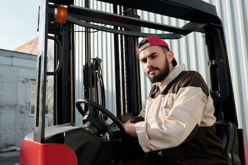 Operator Sitting Inside Forklift