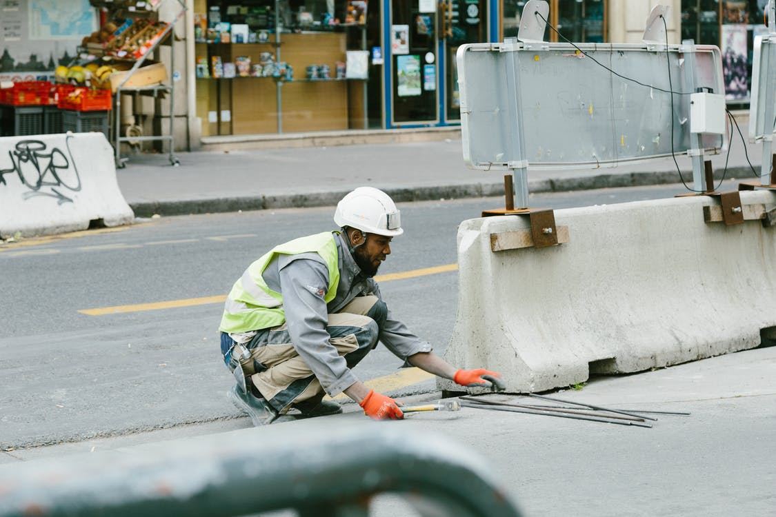 Man Working on Road