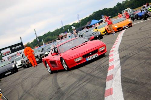 Free stock photo of ferrari, race tack, start line